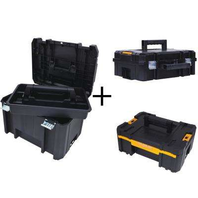 TSTAK VI 17 in. Deep Tool Box, TSTAK II Deep Tool Box and TSTAK III Small Parts Organizer Combo Set (3 Components)