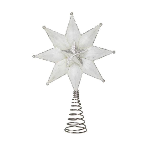 12.5 in. Color Changing LED Snowflake Tree Topper