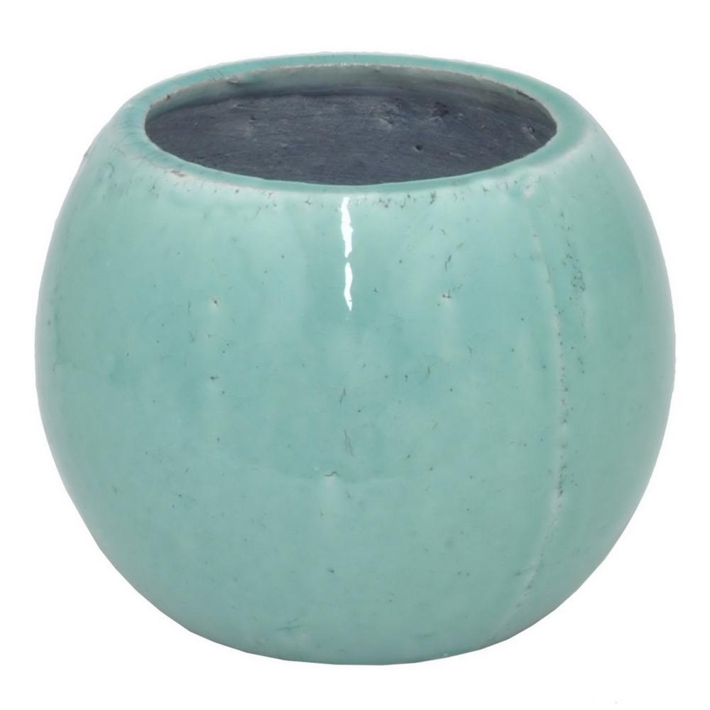 Turquoise Ceramic Planter