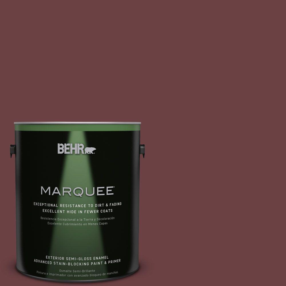 1-gal. #BIC-50 Deep Claret Semi-Gloss Enamel Exterior Paint