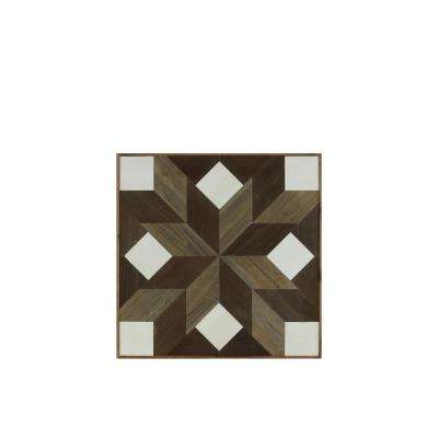 "23.75 in. x 24.75 in. ""Lemoyne Star With Squares"" Printed Wall Art"