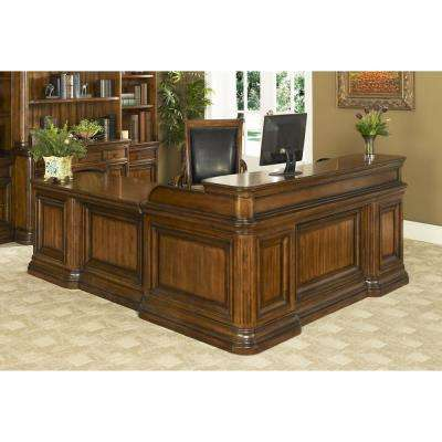 Winsome Burnt Sienna Smart Top Desk with Return