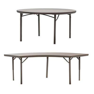 Phenomenal 72 In Brown Plastic Folding Banquet Tables Set Of 5 Download Free Architecture Designs Grimeyleaguecom