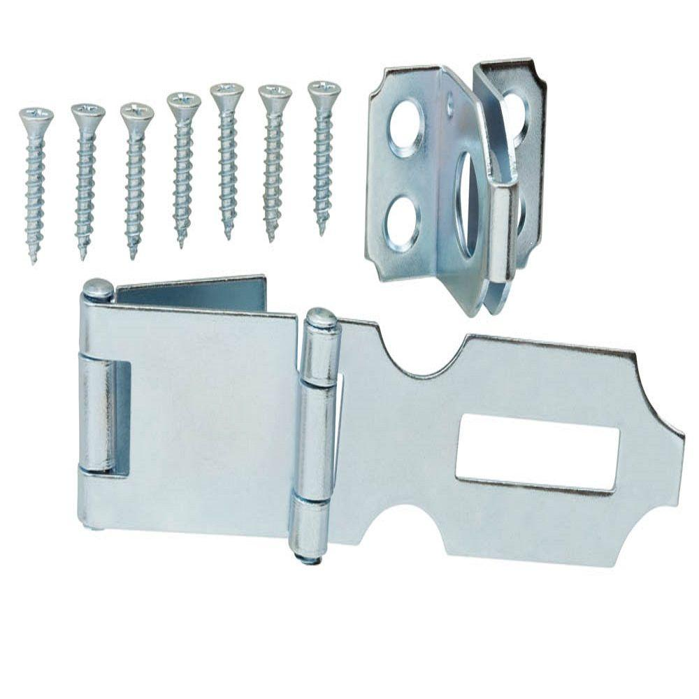 Everbilt 3 in. Zinc-Plated Double Hinge Safety Hasp