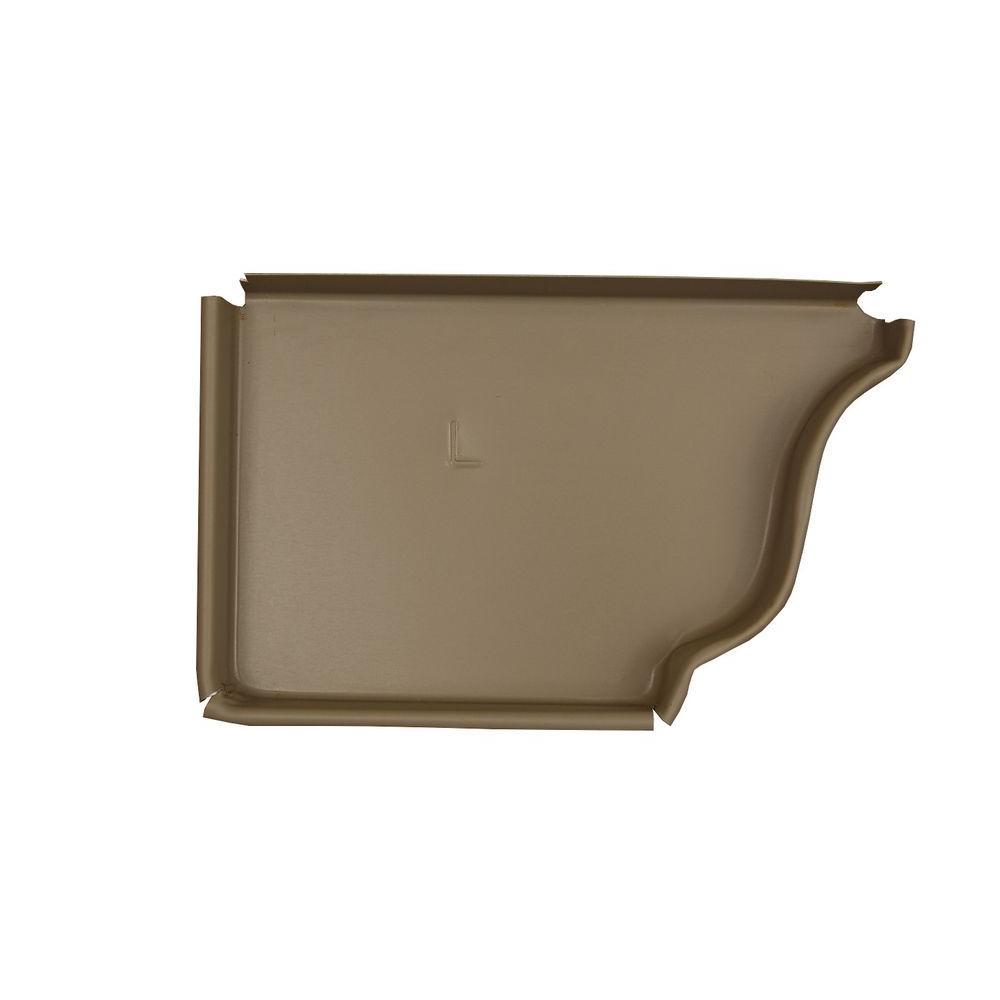 5 in. Natural Clay Aluminum Left End Cap