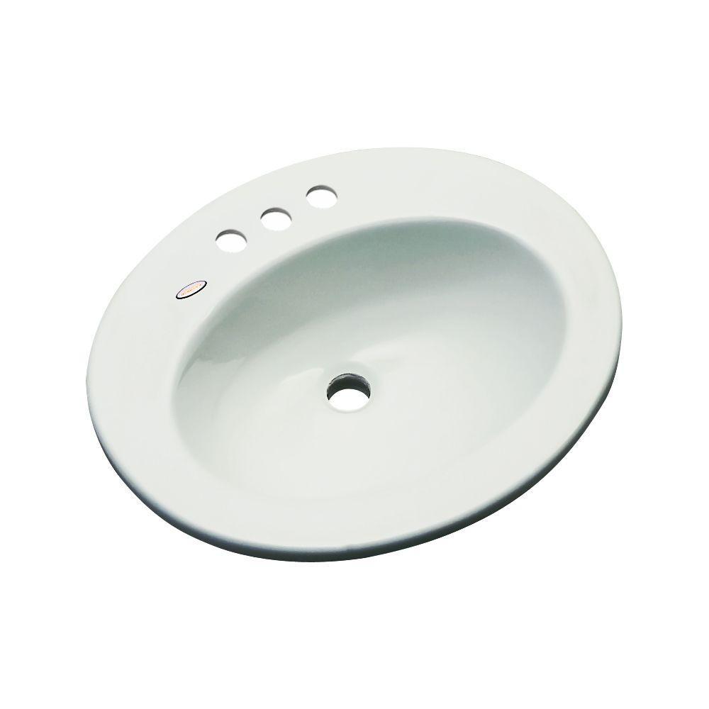 null Austin Drop-In Bathroom Sink in Ice Gray