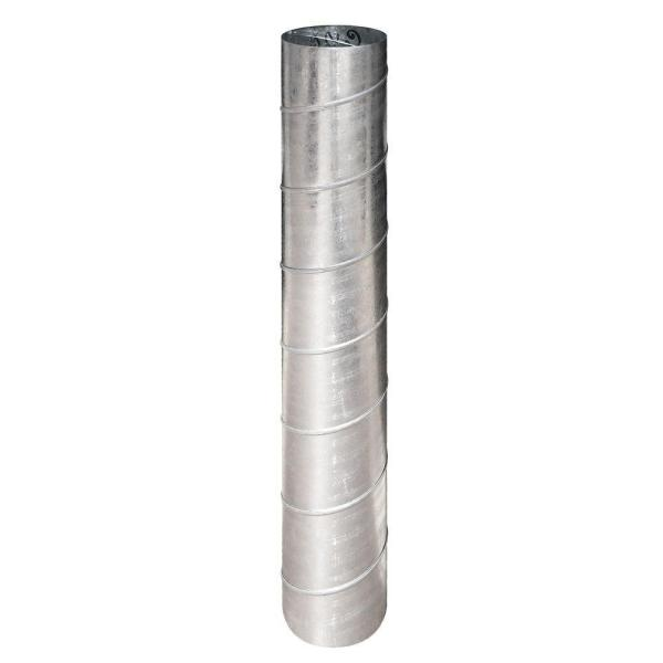 3 in. x 5 ft. 26 Gauge Spiral Pipe