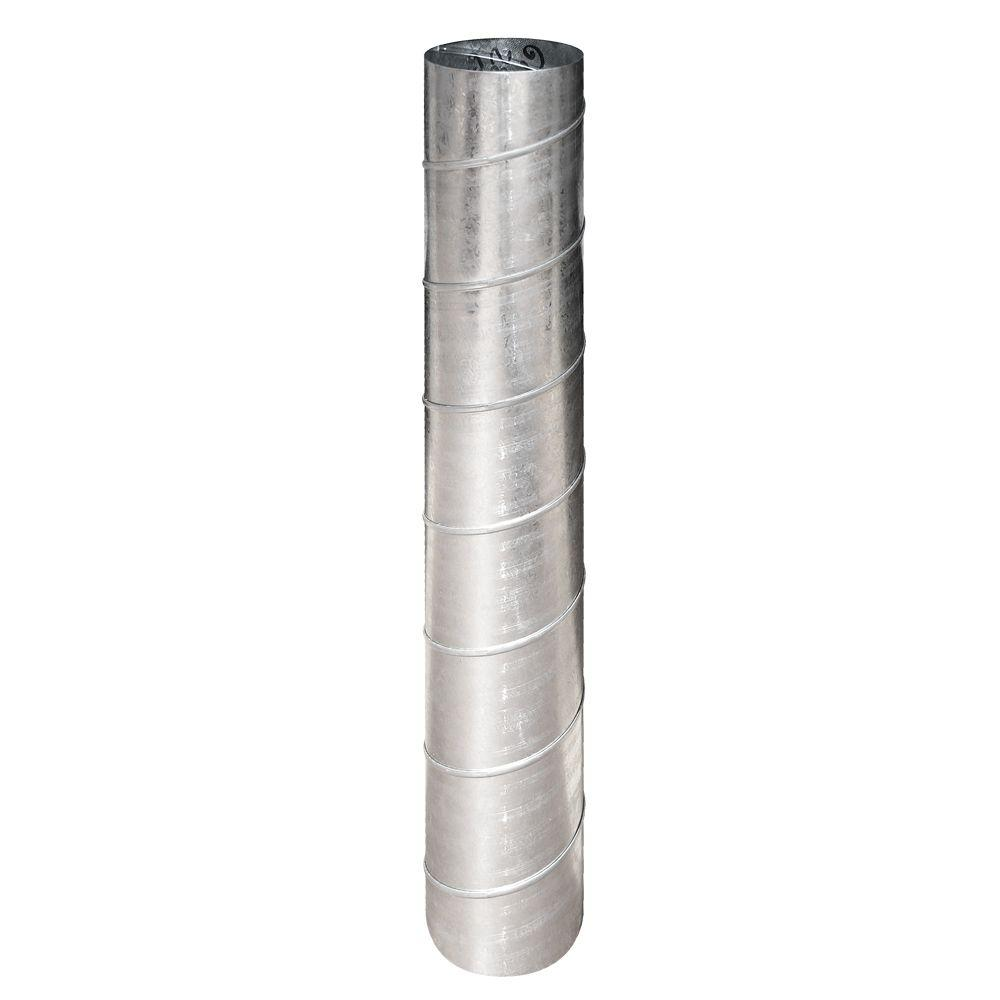 Master Flow Master Flow 8 in. x 5 ft. 26 Gauge Spiral Pipe