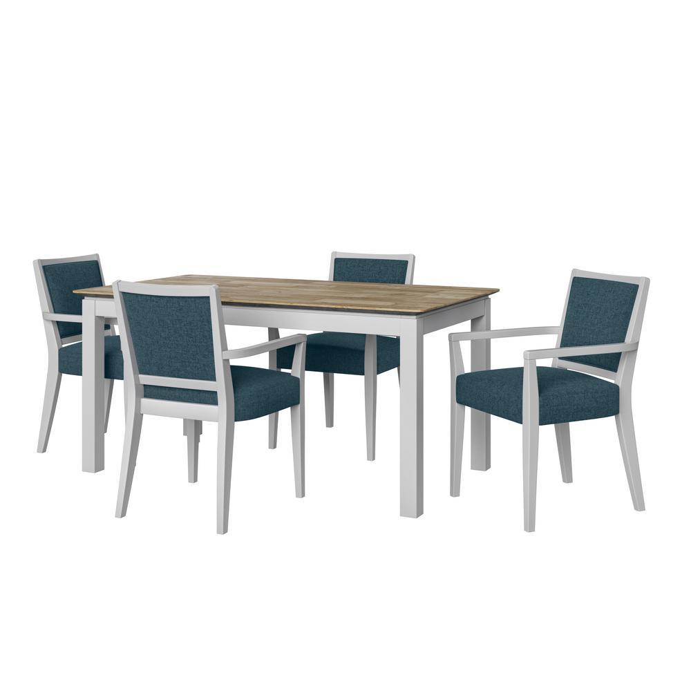 Handy Living Wesley 5-Piece Woodlook Smart Top Dining Table ...