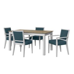 Handy Living Wesley 5-Piece Woodlook Smart Top Dining Table ...