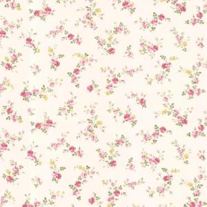 Brewster-56.4 sq. ft. Turtledove Pink Small Rose Toss Wallpaper
