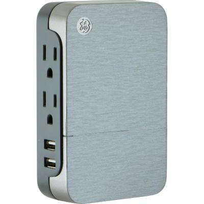 UltraPro 2-Outlet and 2USB Charging Side Access Surge Protector Tap