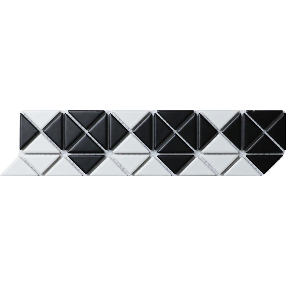 Merola Tile Tre Mini Diamond White With