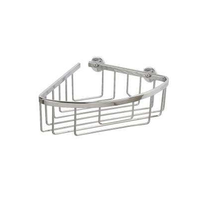 Aluminum 1.5 in. H x 10.75 in. W x 7.5 in. D Slim Corner Basket in Chrome