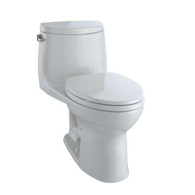 UltraMax II 1-Piece 1.28 GPF Single Flush Elongated Toilet with CeFiONtect in Colonial White