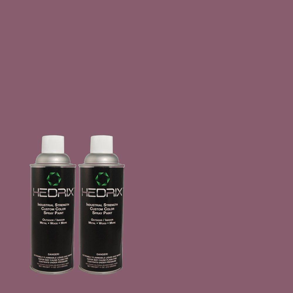 Hedrix 11 oz. Match of 670D-7 Gala Ball Gloss Custom Spray Paint (2-Pack)