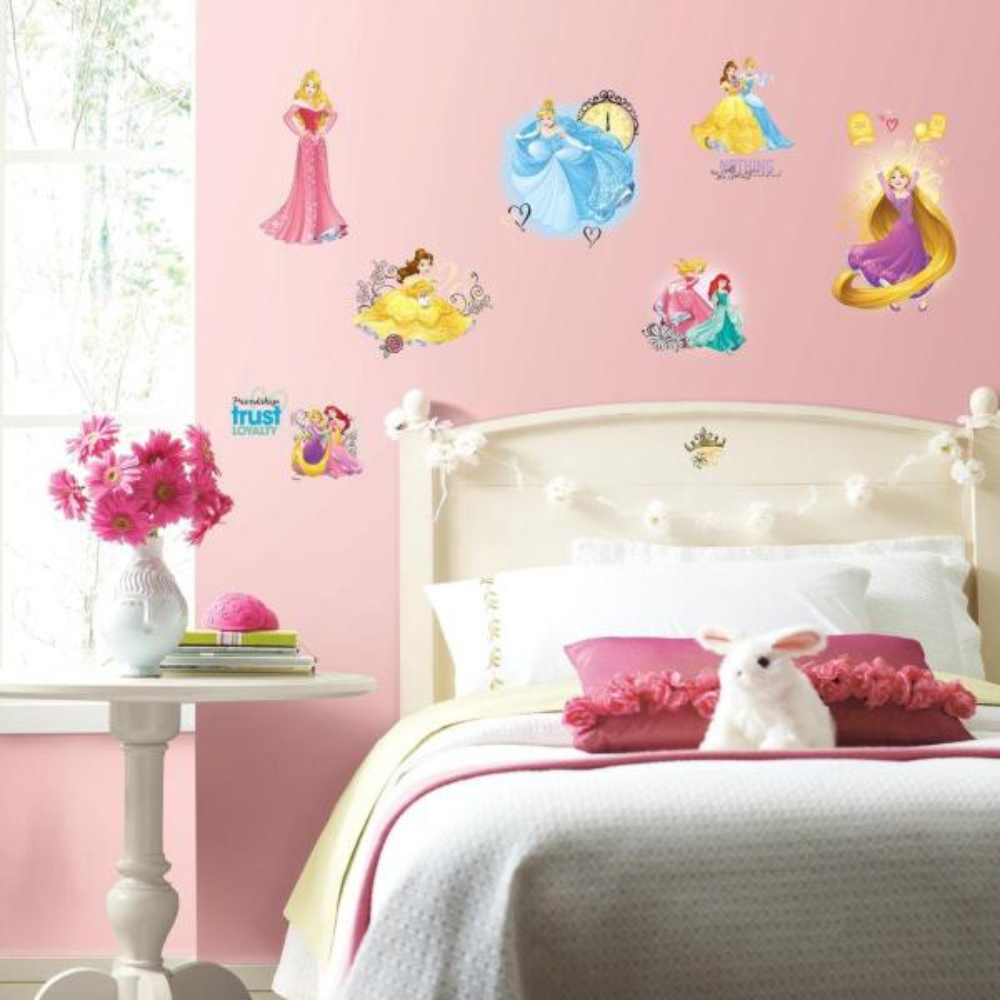 de5e74e2e2 RoomMates 5 in. x 11.5 in. Disney Princess Friendship Adventures 25-Piece  Peel