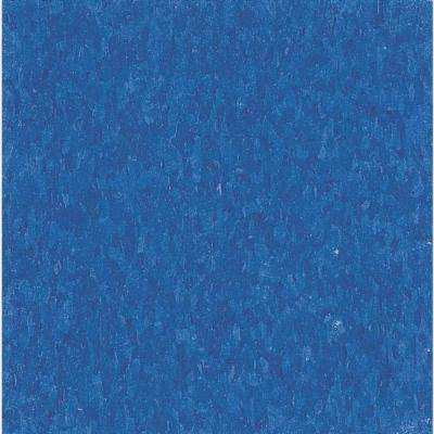 Take Home Sample - Imperial Texture VCT Marina Blue Standard Excelon Vinyl Tile - 6 in. x 6 in.