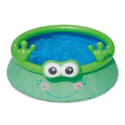 6 ft. x 20 in. Round 20 in. D Inflatable Frog and Ice Cream Truck Pool and Play Center