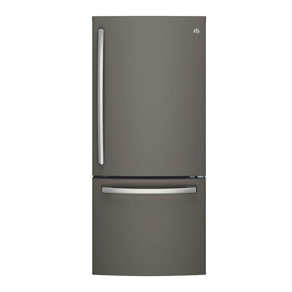 21 cu. ft. Bottom Freezer Refrigerator in Slate, Fingerprint Resistant and