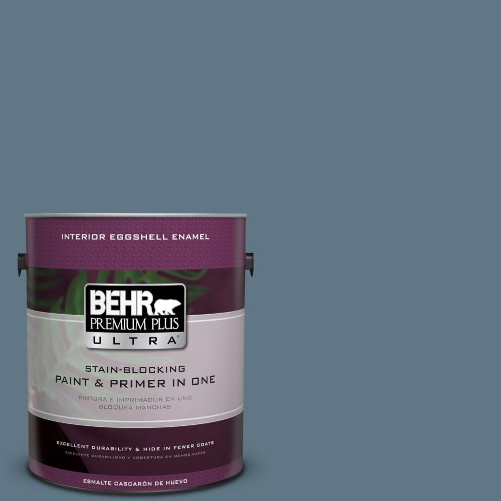 BEHR Premium Plus Ultra 1 gal. #PPU13-3 Catalina Coast Eggshell Enamel Interior Paint and Primer in One