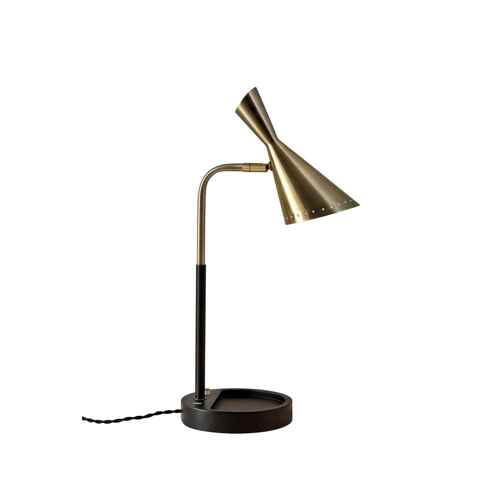 19 in. 6-Watt Integrated LED Black Desk Lamp