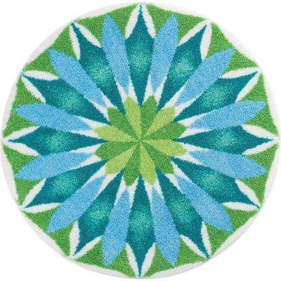 Designer Sunrise Multi 4 ft. Round Area Rug
