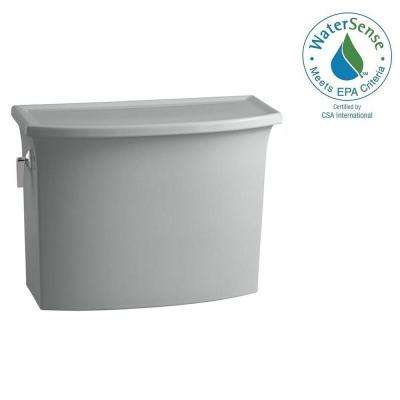 Archer 1.28 GPF Single Flush Toilet Tank Only with AquaPiston Flushing Technology in Ice Grey