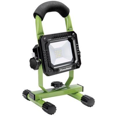 800 Lumen Weatherproof Rechargeable Lithium-Ion LED Work Light with Stand and High/Low/Emergency Light Modes