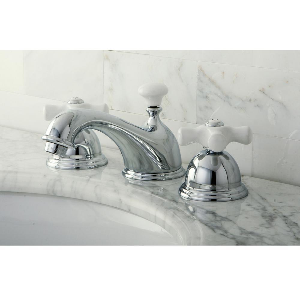 Restoration 8 in. Widespread 2-Handle Bathroom Faucet in Chrome