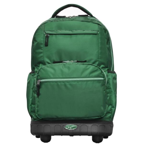 Olympia USA Melody 19 in. Green Rolling Backpack RP-6001-GN