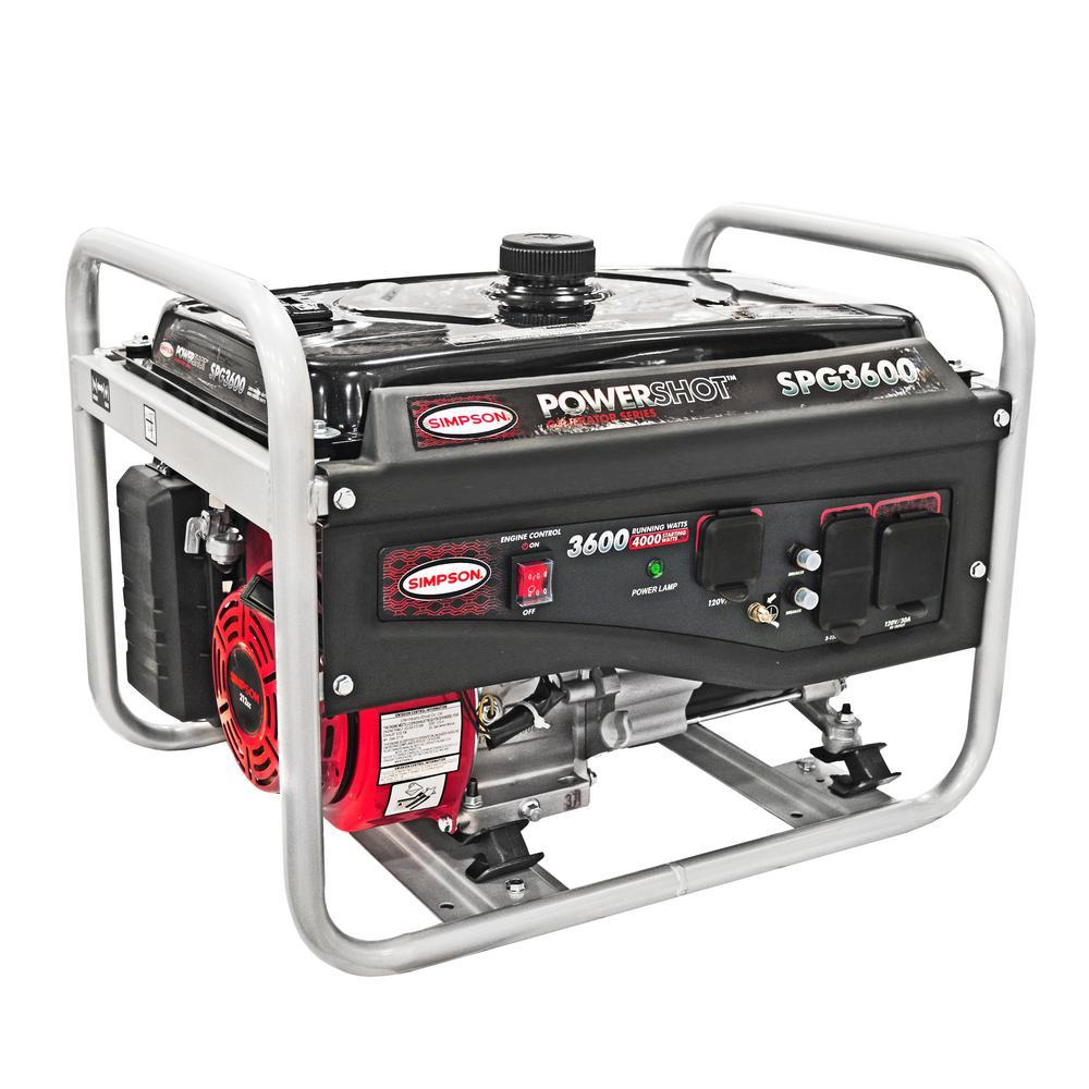 PowerShot SPG3600 Portable 3600W/4000W Generator (49-State)