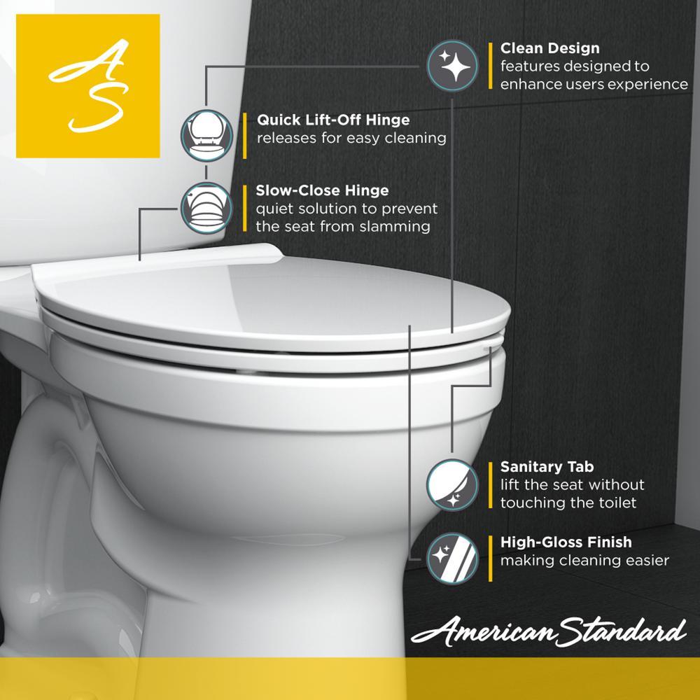 Super American Standard Fluent Elongated Slow Closed Front Toilet Seat In White Machost Co Dining Chair Design Ideas Machostcouk