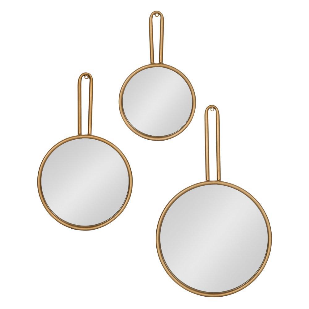 Varela Round Gold Wall Mirror