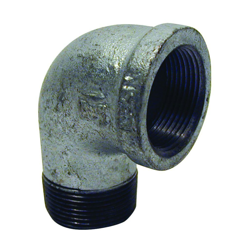 Mueller Global 1/2 in. Galvanized Malleable Iron 90 Degree FPT x MPT Street Elbow