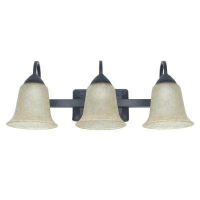 3-Light 26-Watt Warm White (3000K) Oil-Rubbed Bronze Integrated LED Bath Vanity Fixture
