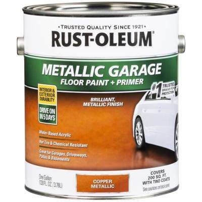 1 Gal. Metallic Copper Concrete Floor Interior/Exterior Paint and Primer (2-Pack)