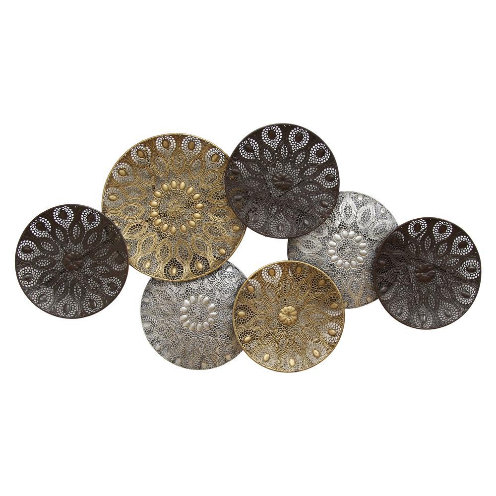 Boho Metal Plates Wall Decor