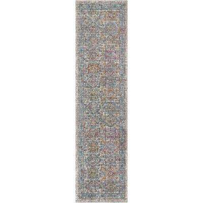 Allure Fiona Multi Vintage Panel Persian Mosaic 2 ft. 7 in. x 9 ft. 10 in. Runner Rug