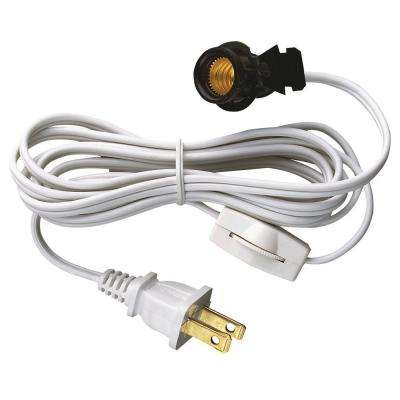 6 ft. Cord Set with Snap-In Pigtail Candelabra-Base Socket and Cord Switch