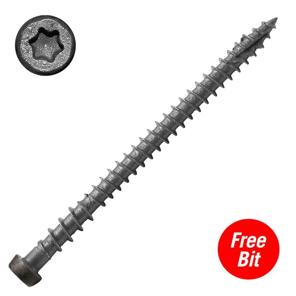 #10 x 2-3/4 in. Star Drive Self-Countersinking Flat Head ACQ Compatible Gravel Path Composite Deck Screws (75 per Pack)