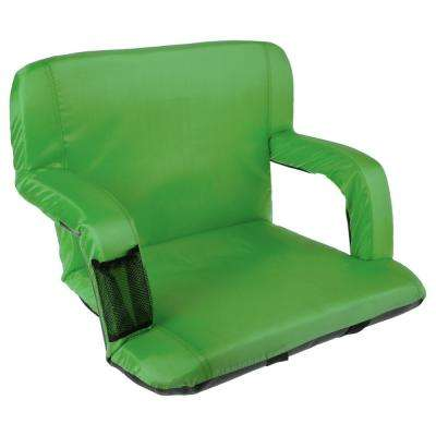 Green Cushioned Wide Stadium Seat Chair with Carry Straps