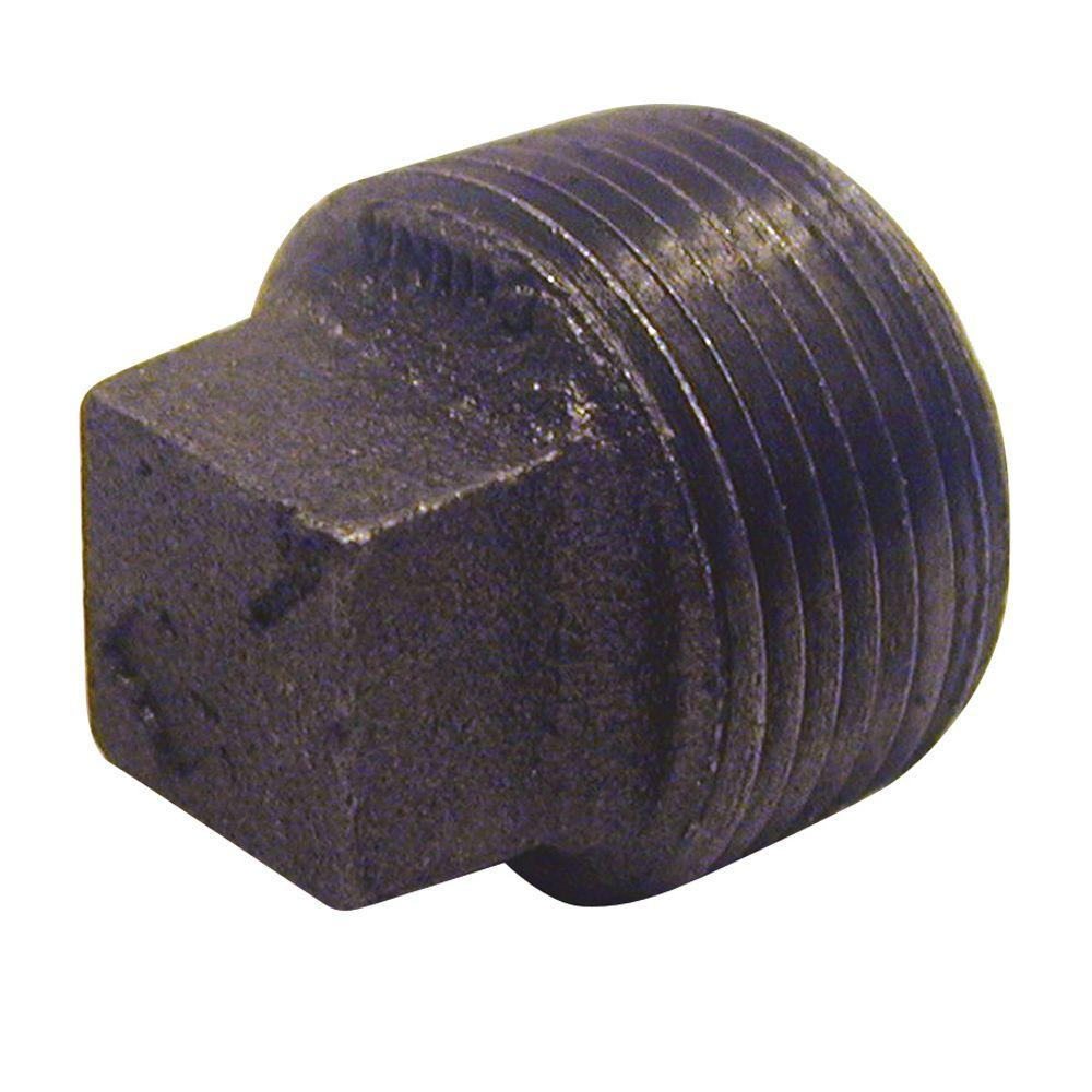 1-1/2 in. Black Malleable Iron Plug