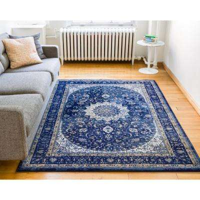 Luxbury Mahal Blue 5 ft. x 7 ft. Traditional Area Rug