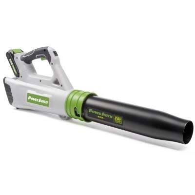 85 MPH 310 CFM Variable-Speed Turbo 20-Volt Lithium-Ion Cordless Electric Blower, 2.0 Ah Battery and Charger Included