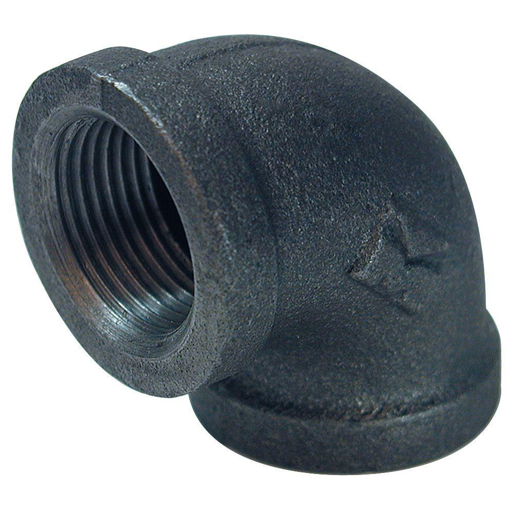 1 in. x 1 in. Black Malleable Iron 90-Degree FPT x FPT Banded Elbow