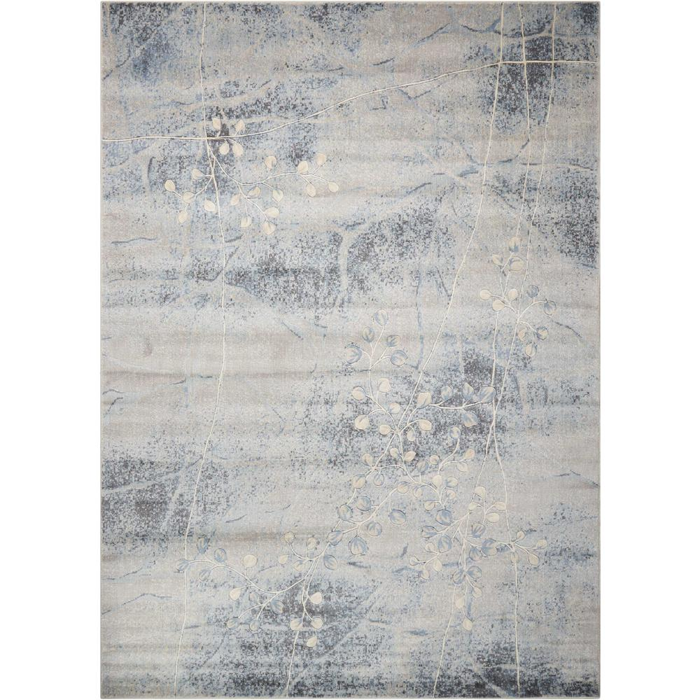 Nourison Somerset Silver Blue 4 Ft X 6 Ft Area Rug