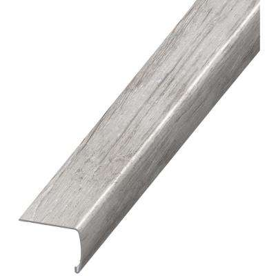 Barrel Wood Light 7 mm Thick x 2 in. Wide x 94 in. Length Coordinating Vinyl Stair Nose Molding