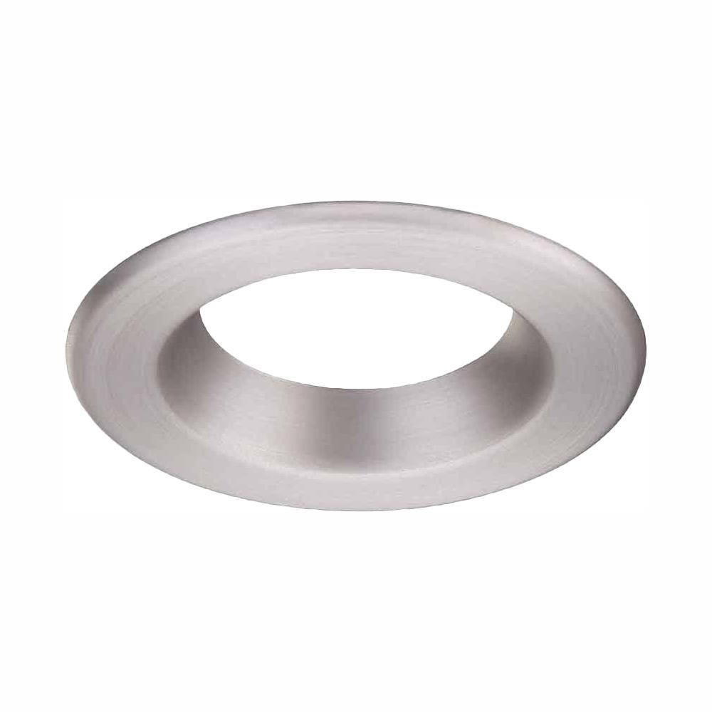 CommercialElectric Commercial Electric 4 in. Brushed Nickel Recessed LED Trim Ring