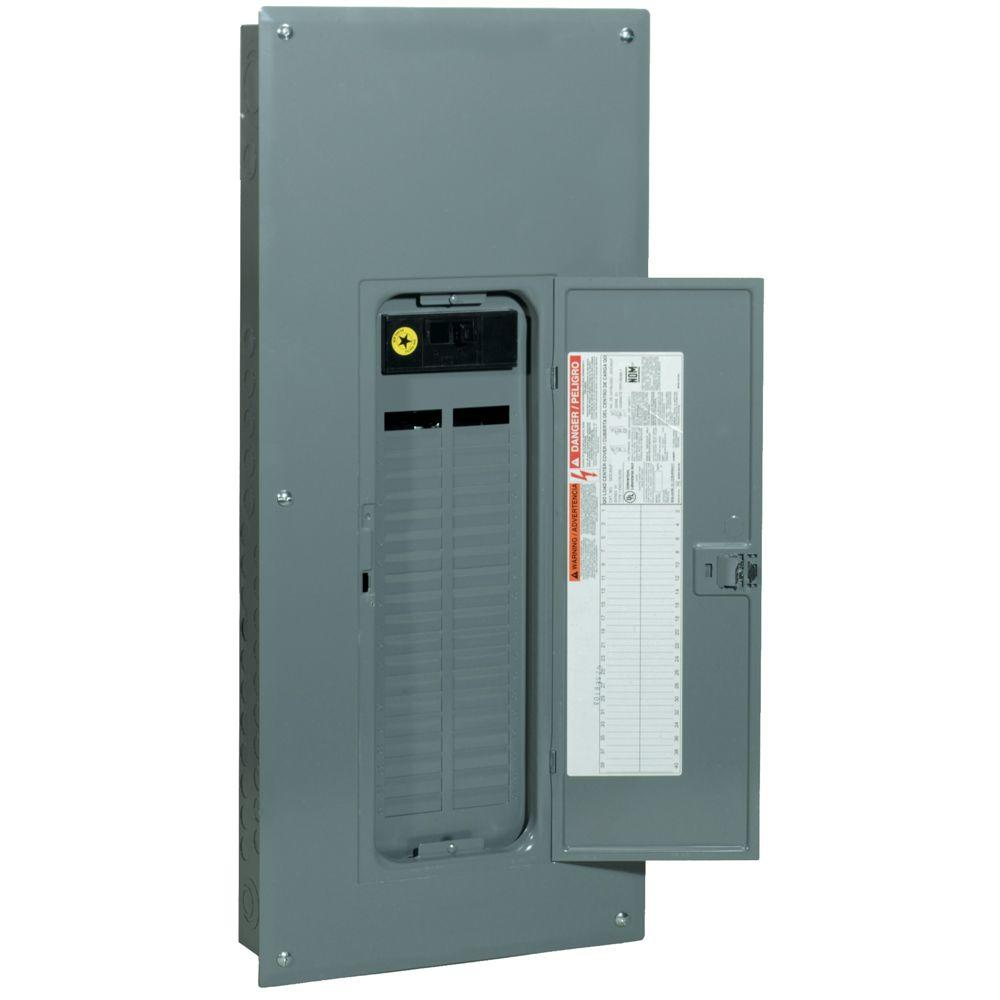 Square D QO 200 Amp 40-Space 40-Circuit Indoor Main Breaker Load Center with Cover